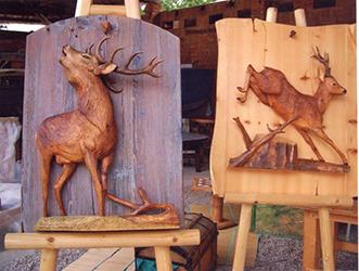 CAQ_Italo De Gol_cervo_capriolo_scultura in legno SITO